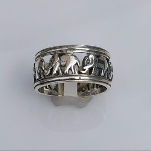 Elephant .925 Sterling Silver Ring by Peter Stone